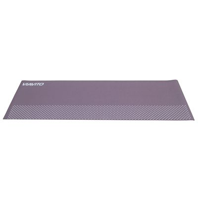 Viavito Leviato 6mm Yoga Mat with Carry Strap - Mocca - Flat