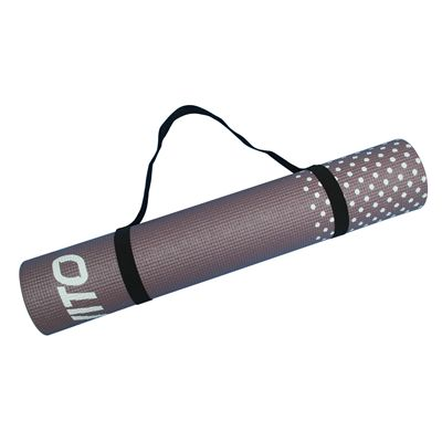 Viavito Leviato 6mm Yoga Mat with Carry Strap - Mocca - Strap