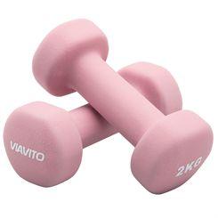 Viavito Neoprene Dumbbells - Pair - 2 x 2kg