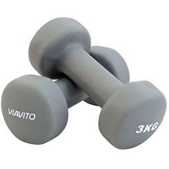 Viavito Neoprene Dumbbells - Pair - 2 x 3kg