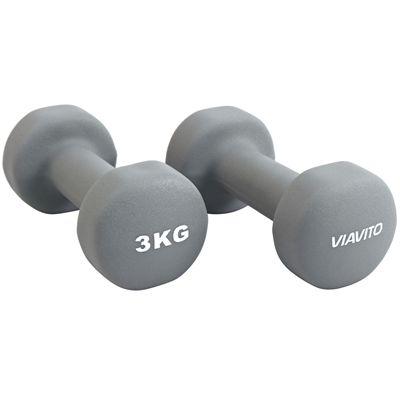 Viavito Neoprene Dumbbells - 3kg B