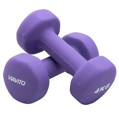 Viavito Neoprene Dumbbells - Pair - 2 x 4kg