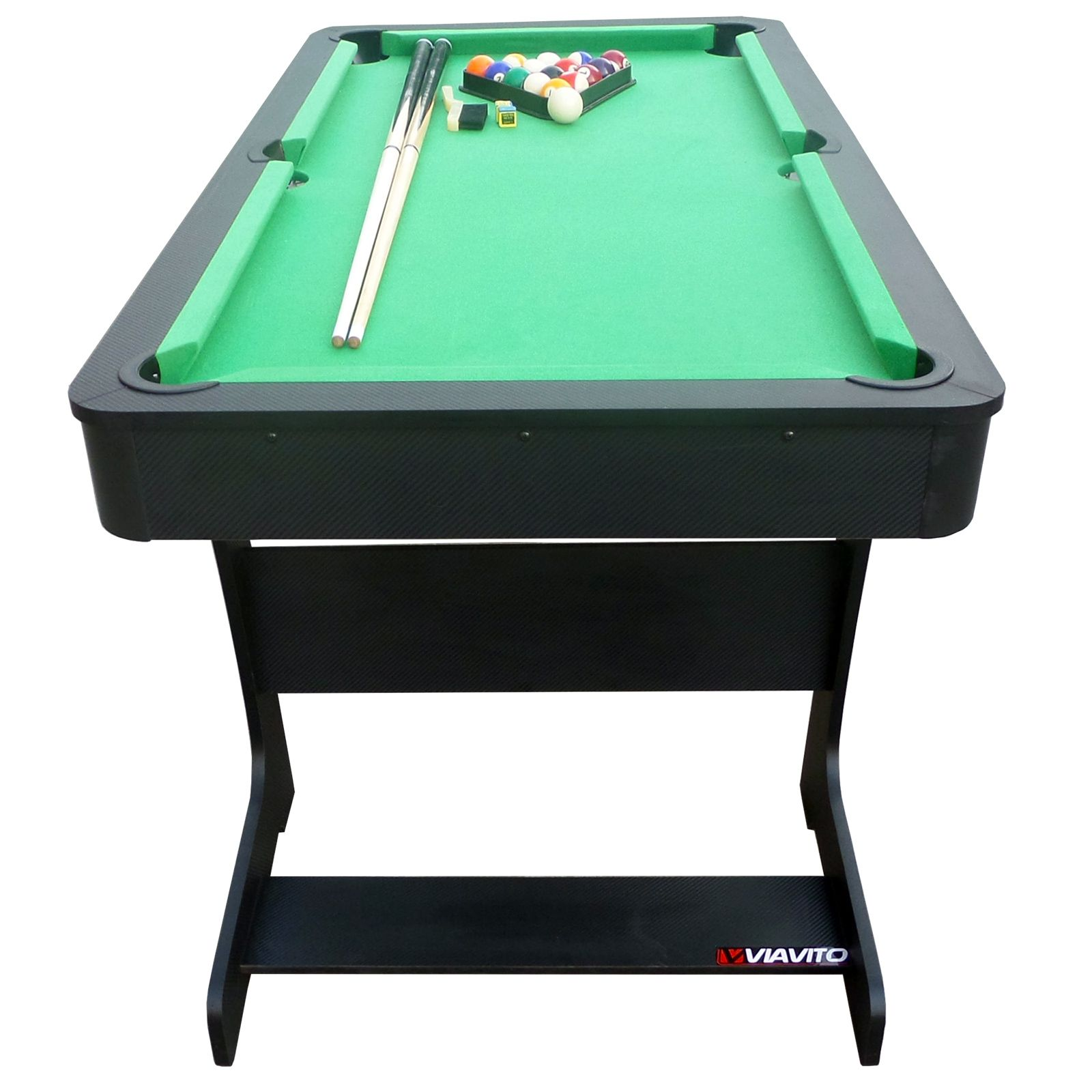 Viavito pt100x 5ft folding pool table for Html table in table
