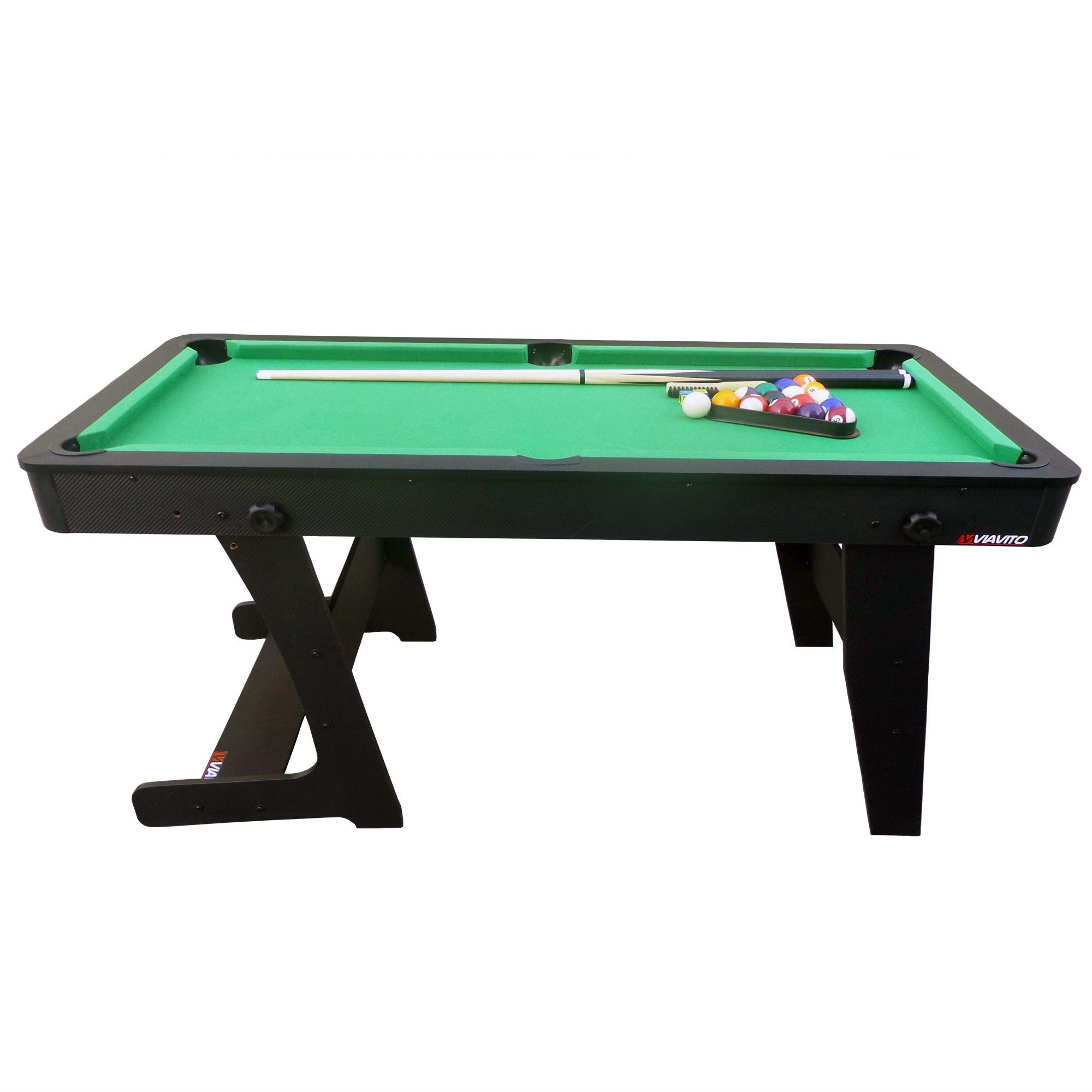 Viavito pt100x 5ft folding pool table for 11 x table games