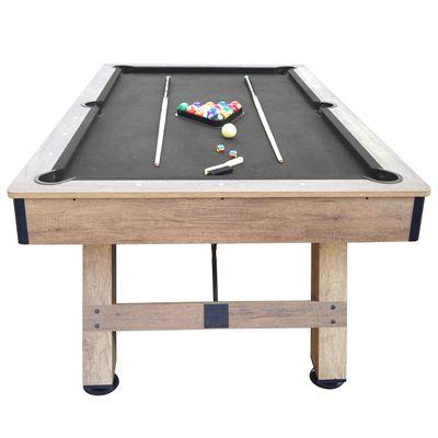 Viavito PT500 7ft Pool Table - Black - Front