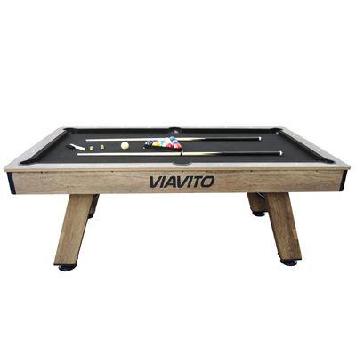 Viavito PT500 7ft Pool Table - Black - Side