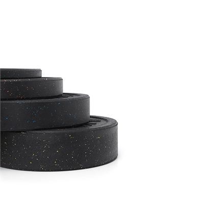 Viavito Rubber Crumb Bumper Olympic 110kg Weight Plates Set - Side