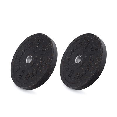 Viavito Rubber Crumb Bumper Olympic Weight Plates - 2x10kg