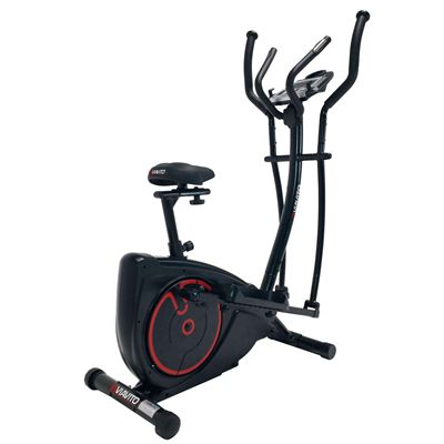 Viavito Setry 2 in 1 Elliptical Trainer & Exercise Bike - Angled