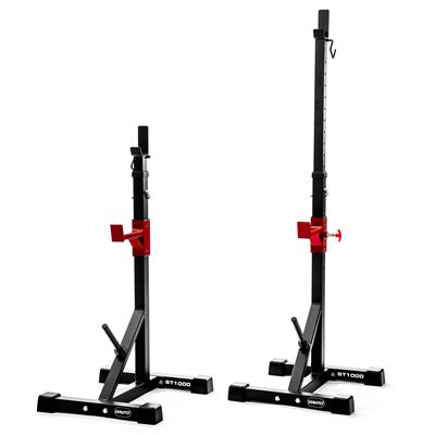 Viavito ST1000 Adjustable Squat Stands with Barbell Spotter Catchers - Folded