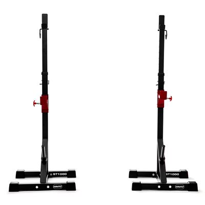 Viavito ST1000 Adjustable Squat Stands with Barbell Spotter Catchers - Separated