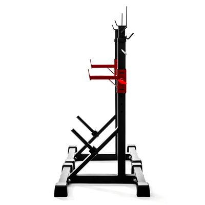 Viavito ST1000 Adjustable Squat Stands with Barbell Spotter Catchers - Side