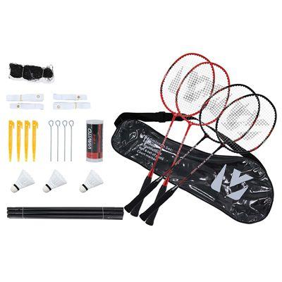 Viavito Super Strike 4 Player Badminton Set Package Rackets - All Elements