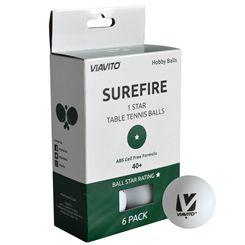 Viavito Surefire 1 Star Table Tennis Balls - Pack of 6