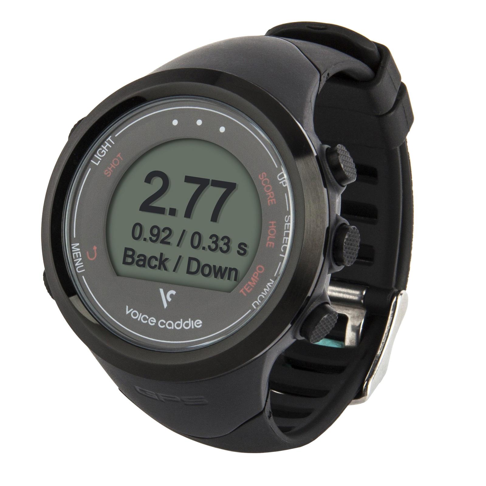 Voice Caddie T1 GPS Golf Watch  Black