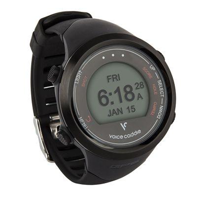 Voice Caddie T1 GPS Golf Watch - Black - Side