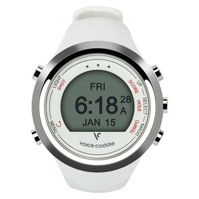 Voice Caddie T1 GPS Golf Watch - White - Front
