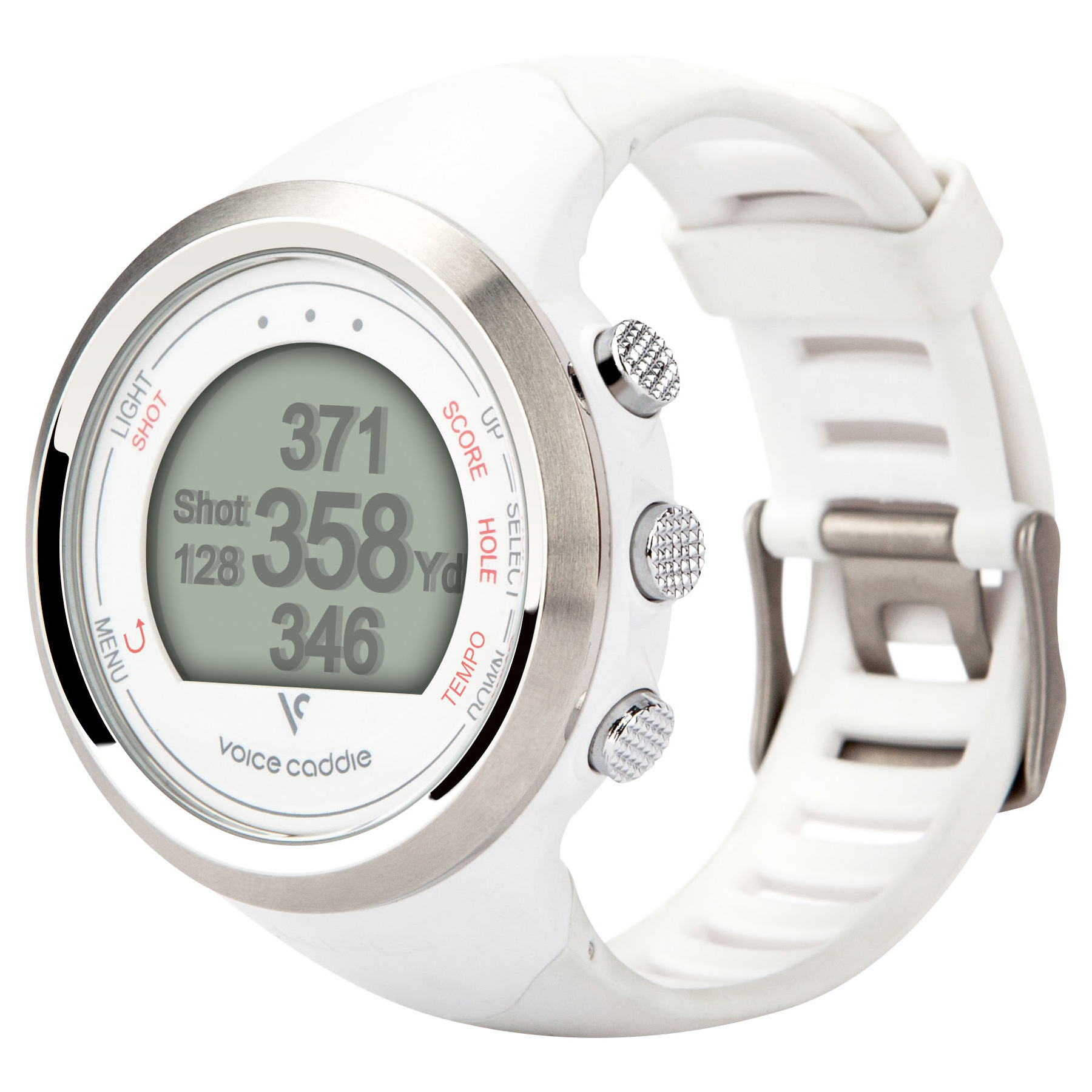 Voice Caddie T1 GPS Golf Watch  White