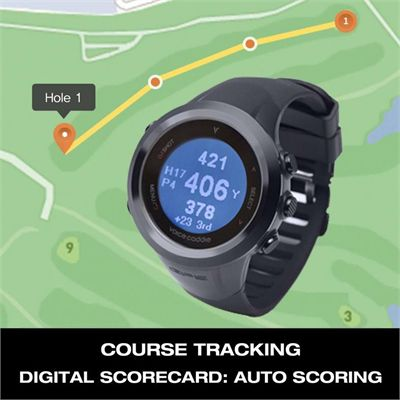 Voice Caddie T2 GPS Tracker and Golf Watch - Tracking