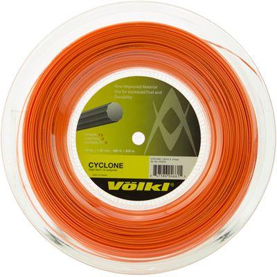 Volkl Cyclone Tennis String - 200m Reel - Orange