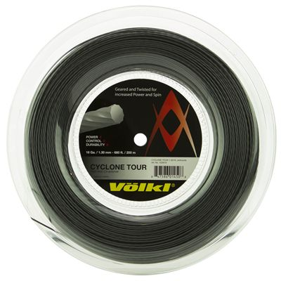 Volkl Cyclone Tour Tennis String - 200m Reel - Black