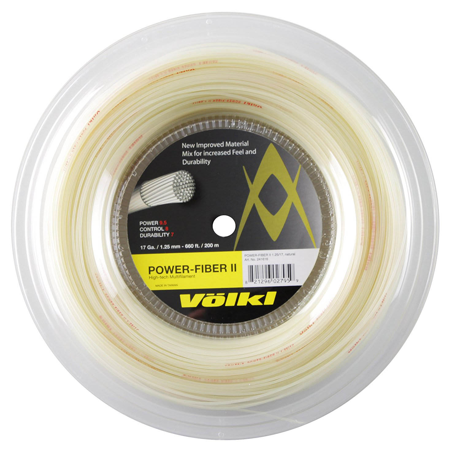 Volkl Power Fiber II Tennis String - 200m Reel - 1.25mm