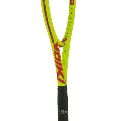 Volkl Super G 10 Mid 330g Tennis Racket-Throat