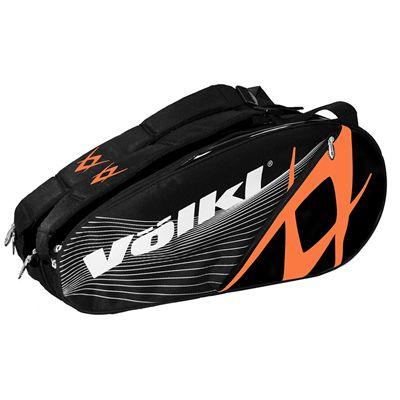 Volkl Team Combi 6 Racket Bag - Double - Orange and Black