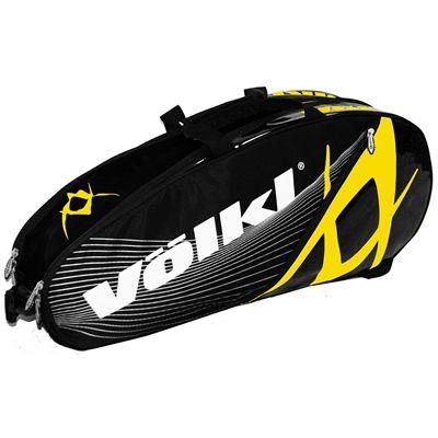 Volkl Team Combi 6 Racket Bag - Double - Yellow and Black