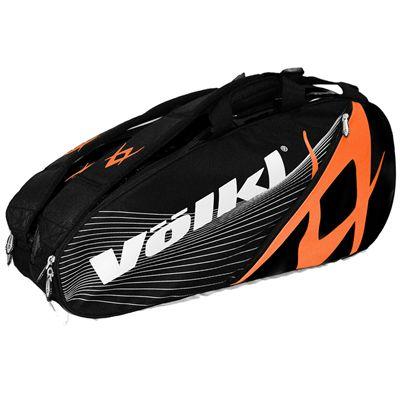 Volkl Team Mega 9 Racket Bag - Triple - Orange and Black