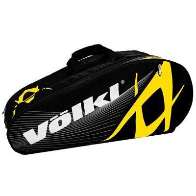 Volkl Team Mega 9 Racket Bag - Triple - Yellow and Black