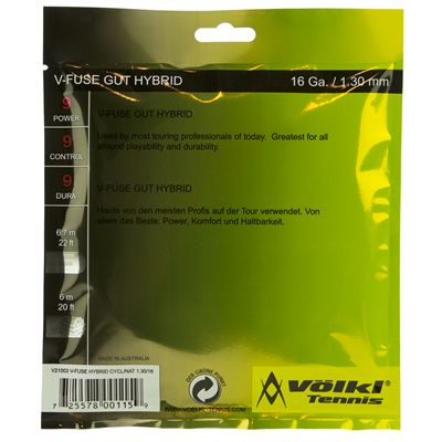 Volkl V-Fuse Tennis String Set - Back