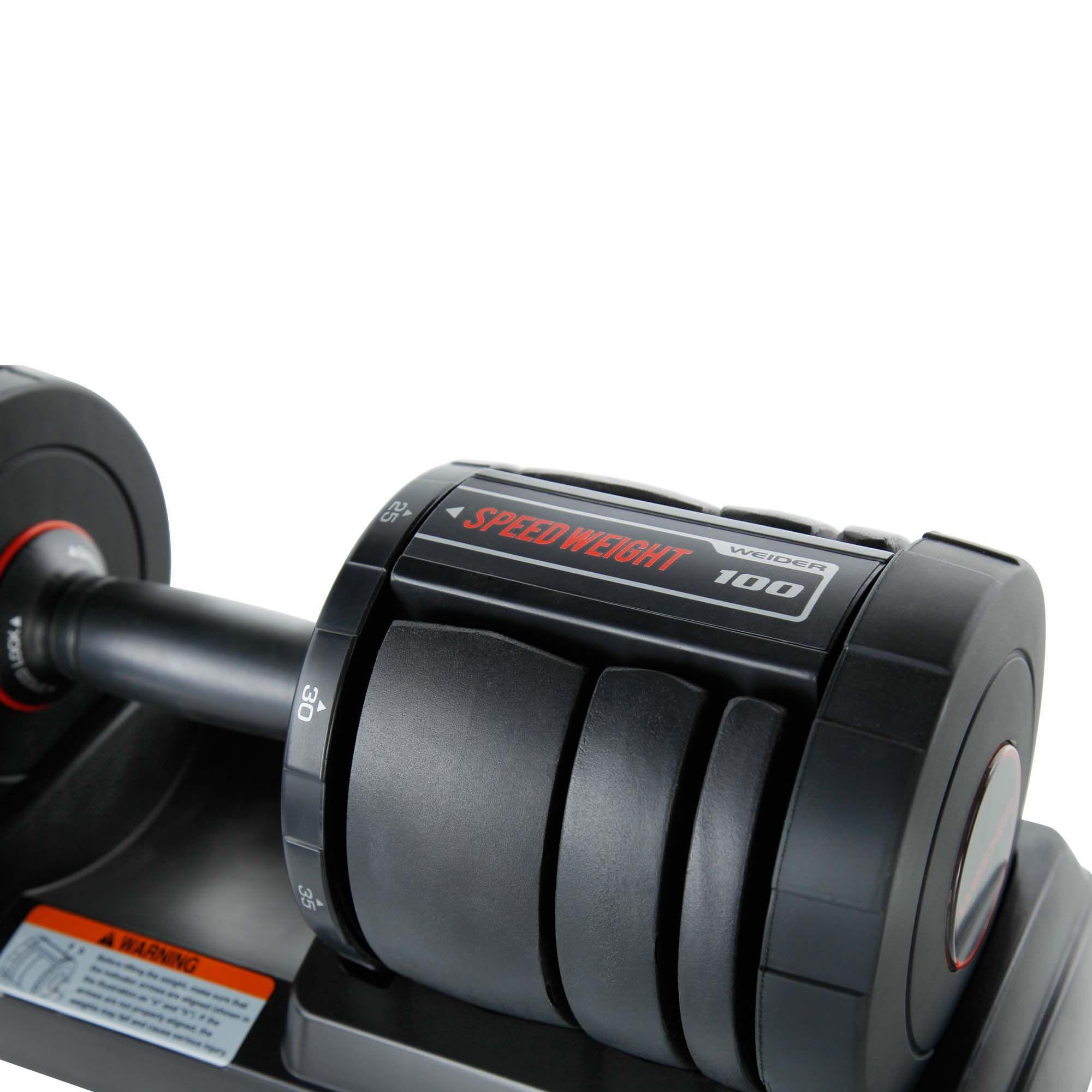 100 Lb Adjustable Dumbbell Set: Weider SpeedWeight 100lbs. Adjustable Dumbbell Set With