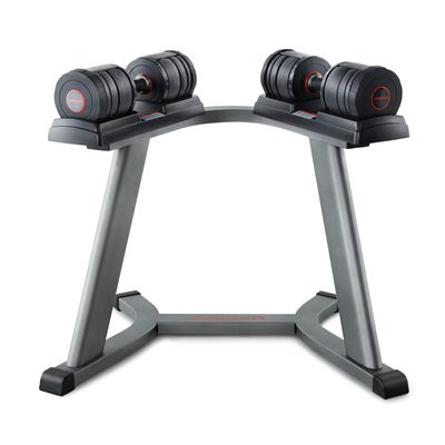 Weider SpeedWeight 100 (15-50 lbs). Adjustable Dumbbell Set with Stand