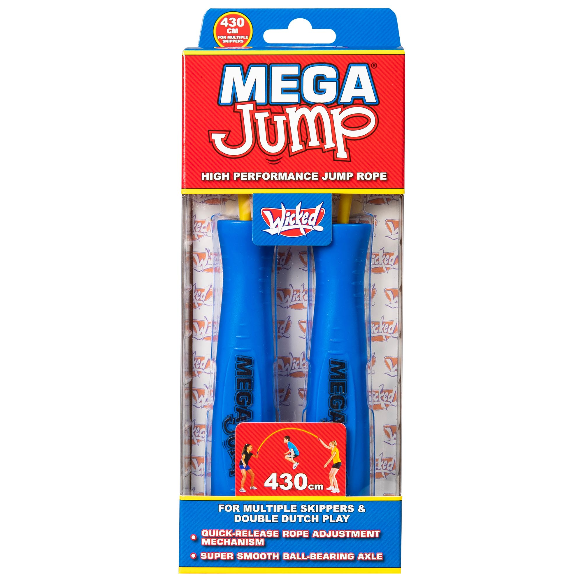 Wicked Mega Jump Double Skipping Rope - Blue
