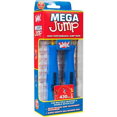 Wicked Mega Jump Double Skipping Rope - Blue - Box