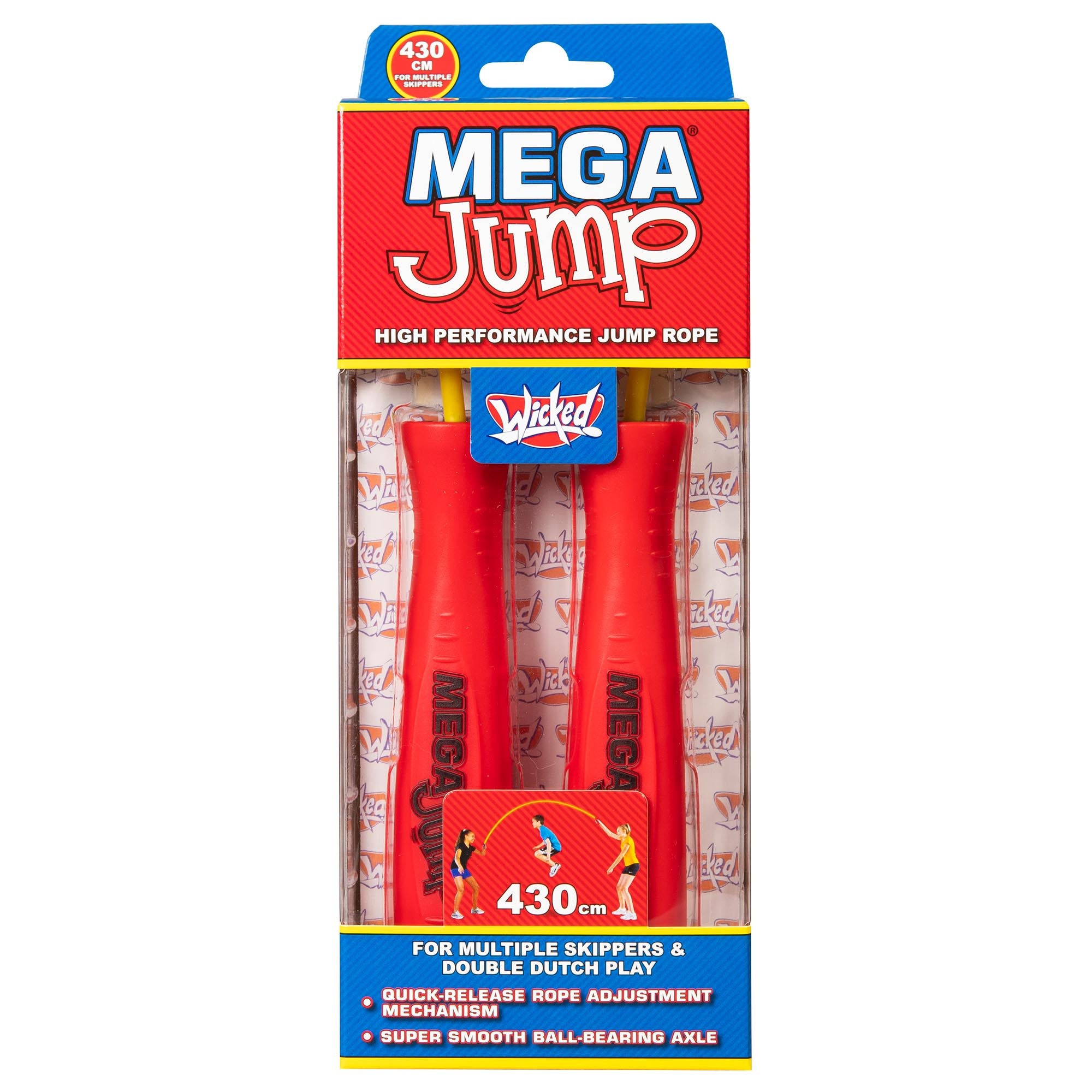 Wicked Mega Jump Double Skipping Rope - Red
