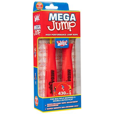 Wicked Mega Jump Double Skipping Rope - Red - Box