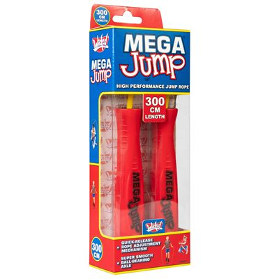 Wicked Mega Jump Single Skipping Rope - Red - Box