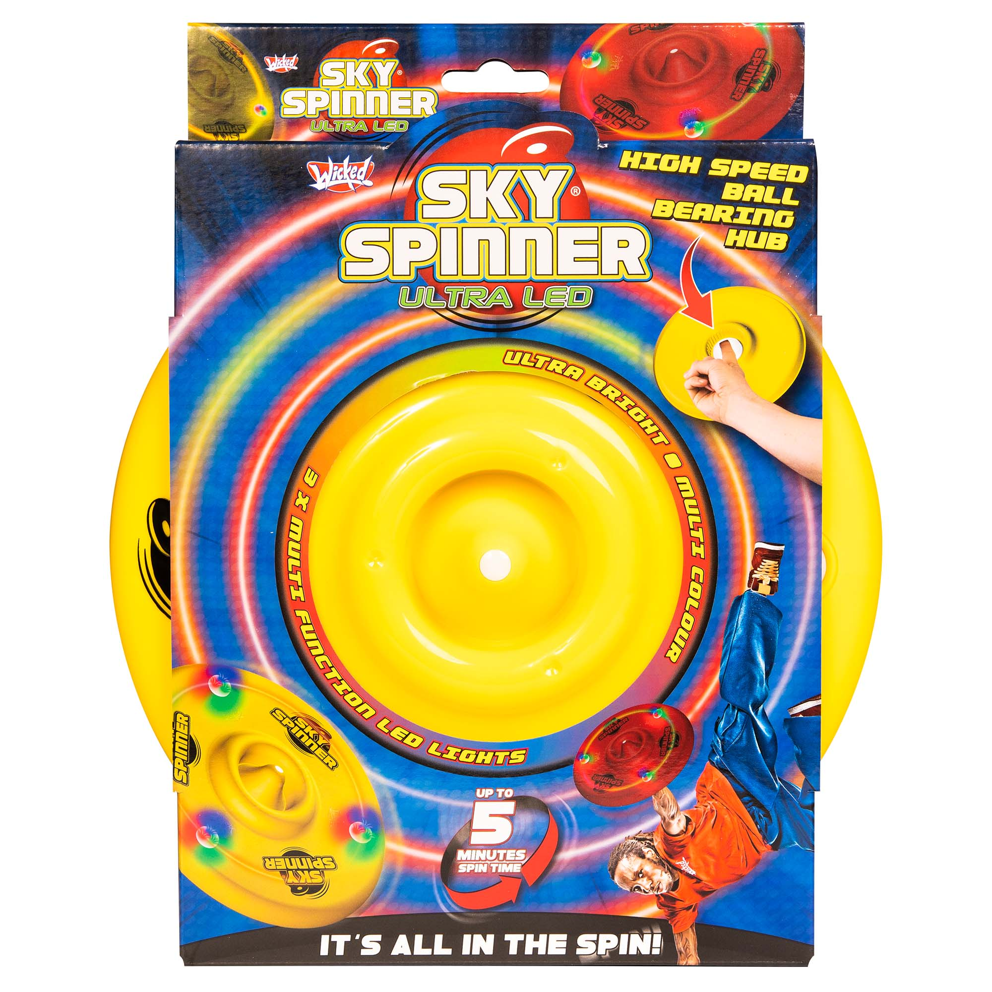 Wicked Sky Spinner Ultra LED Trick Disc - Yellow