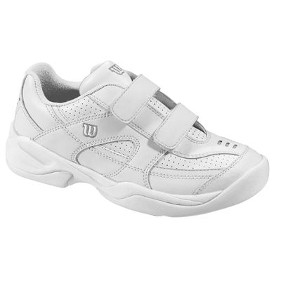 Wilson Advantage Court IV Velcro Junior Tennis Shoes Silver Front