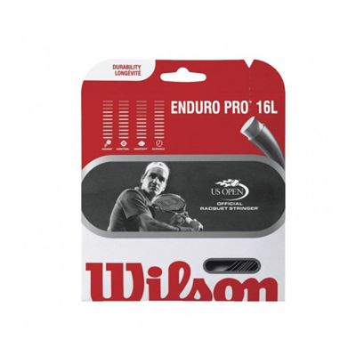 Wilson Enduro Pro 16L Tennis String Set Black