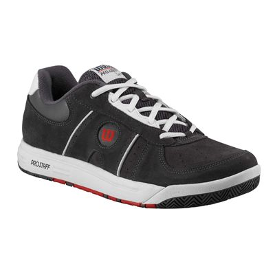 Wilson Pro Staff Classic Supreme Mens Tennis Shoes Graphite White Red