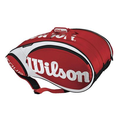 Wilson Tour 15 Pack Racket Bag - Red/White