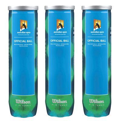 Wilson Australian Open Tennis Balls - (1 Dozen)