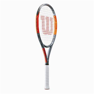 Wilson Burn Team 100 Lite Tennis Racket - Side