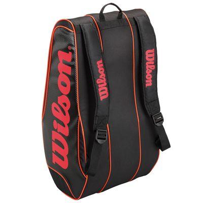 Wilson Burn Team 12 Racket Bag - Back