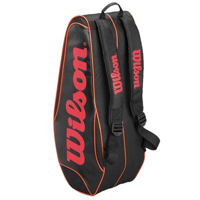 Wilson Burn Team 6 Racket Bag - Back