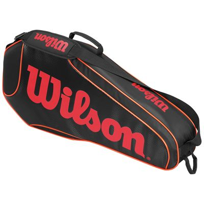Wilson Burn Team Triple Racket Bag-Black-Orange-Back