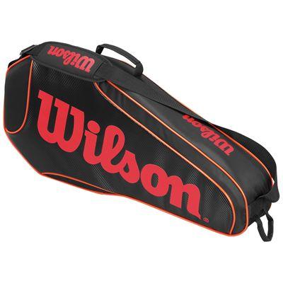 Wilson Burn Team Triple Racket Bag-Black-Orange-Back
